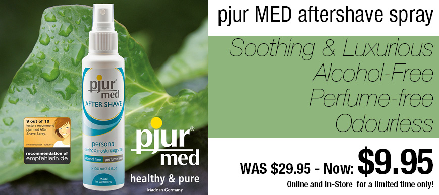 pjur med aftershave spray now only $9.95