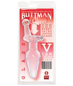 Buttmans Viewable Glass Butt Plug - Bishop