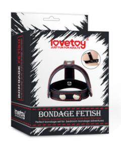 Bondage Fetish T-Style Leather Cockring