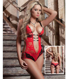 B1402 - 1pc Play & Tease Teddy Red Love