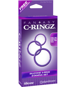 Fantasy C-Ringz 3-Ring Stamina Set Purple