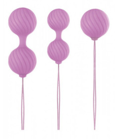 Luxe O Weighted Kegel Balls Pink