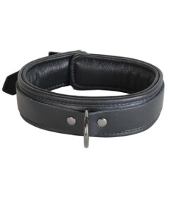 Leather Collar with Pewter Hardware
