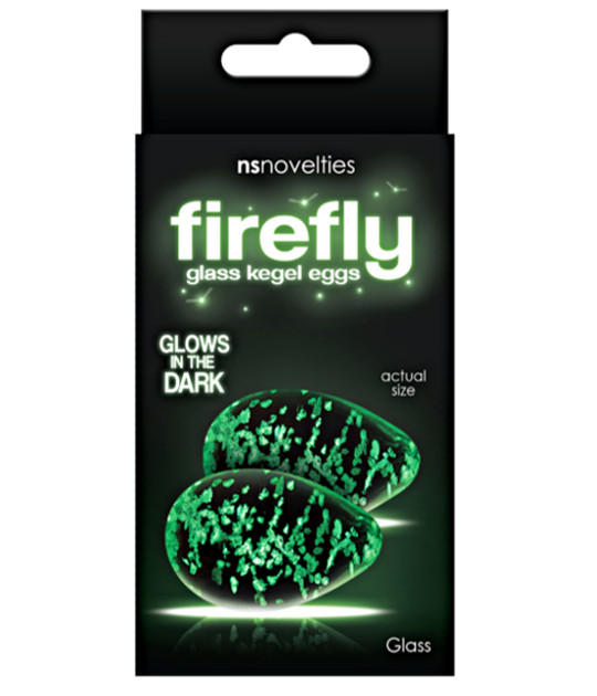 Firefly Glass Kegel Eggs Clear
