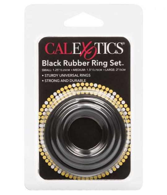 Black Rubber Cock 110