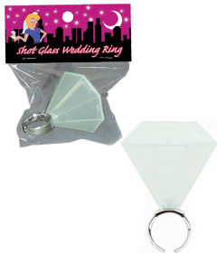 Shot Wedding Glass Ring