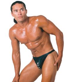 MEN009L - G-String Zipped & Studded Large