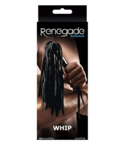 Renegade Bondage Whip Black