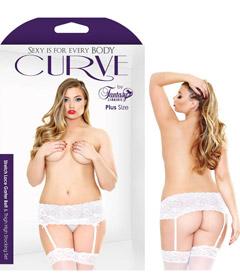 Curve Stretch Stocking Set White 1x2x