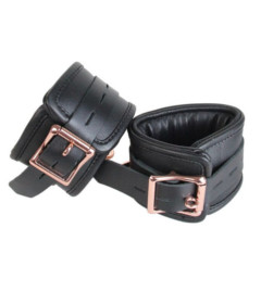 Leather Cuffs with Rose Gold Hardware