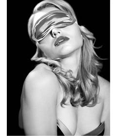 S&M Satin Grey Blindfold