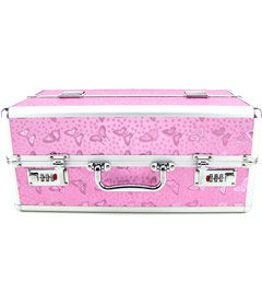 Lockable Vibrator Case - Large Pink