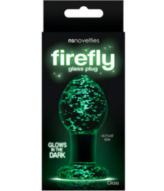 Firefly Glass Plug Medium Clear
