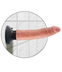 King Cock 7in Vibrating Cock Flesh