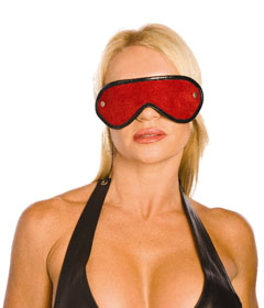 BLI027 - Red Suede Blindfold