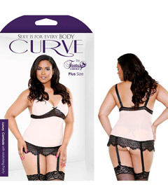 Curve Blush Luxury Cami Set 3x4x