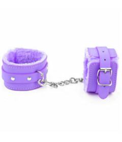 B-HAN02PUR Fur Lined Cuffs Purple