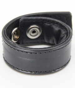 RIN037BLK Padded Leather Cockring Black