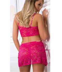 D1905 - 3pc Laced Set Berry-Kiss OS