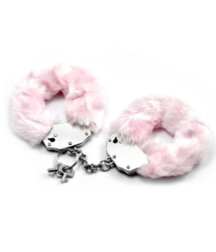 Lovetoy Fluffy Hand Cuffs Pink