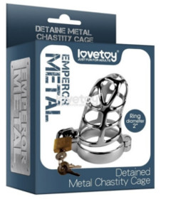 Detained Metal Chastity Cage