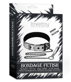 Bondage Fetish Collar&Leash SIL LV761004