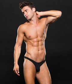 Envy LowRise Thong E062 Black M L