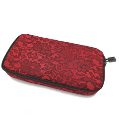 Lace Lockable Bag Red by Brigitta