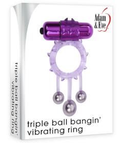 A&E Triple Ball Bangin Vibrating Ring