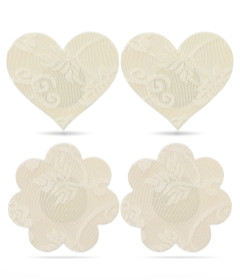 Lace Heart and Flower Nipple Pasties 2pk