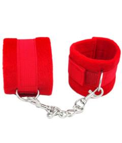 B-HAN05RED Plush Cuffs Red