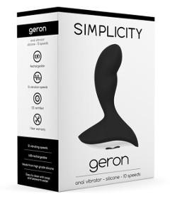 Geron Rechargeable Anal Vibrator Black