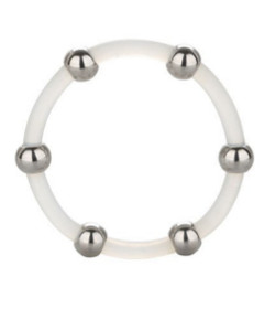 Steel Beaded Silicone Ring X-Large