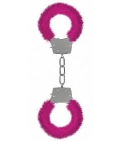 Pleasure Furry Handcuffs Pink