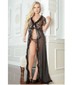 D1661P - Glam Night Robe 1X2X