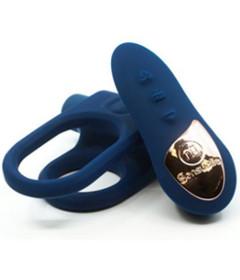 Sensuelle XLR8 Remote Bullet Ring Blue