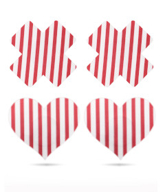 Cross and Heart Nipple Pasties 2 Pack