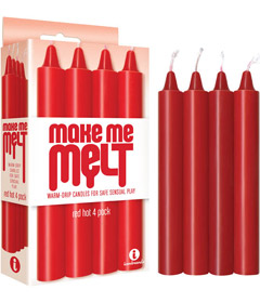 Make Me Melt Candles Red 4pk