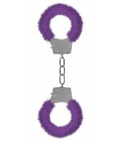 Pleasure Furry Handcuffs Purple
