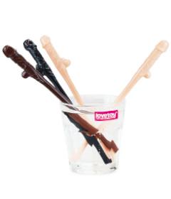 Willy Straws 9pk White Brown Black