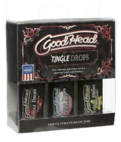 GoodHead Tingle Drops 3Pk Vanilla, Cotton Candy & Cherry