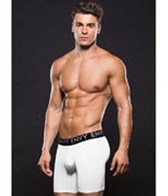 Envy Logo Athletic Boxer M L White