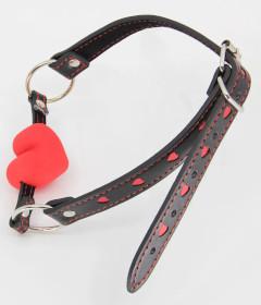 B-GAG01A Gag Silicone Heart Red