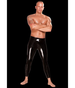 Saxenfelt Rubber Leggings Black Small