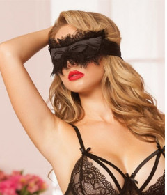 STM 40135 Eyelash Blindfold Black
