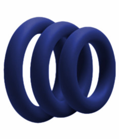 RIN027NAVY 3 Pack Silicone Cock Ring Navy
