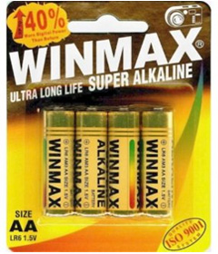 Winmax Super Alkaline AA Batteries - 4 Pack