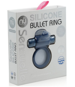 Sensuelle Silicone Bullet Ring Blue