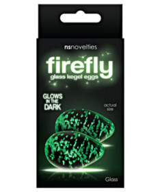 Firefly Glass Kegel Eggs Clear