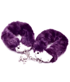 Lovetoy Fluffy Hand Cuffs Purple